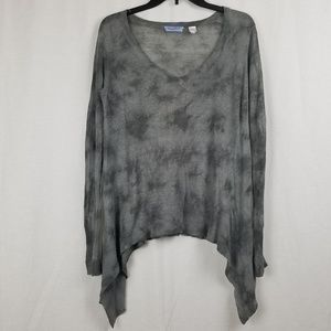 ACROBAT GRAY OVERSIZED LINEN SWEATER TOP SIZE XS